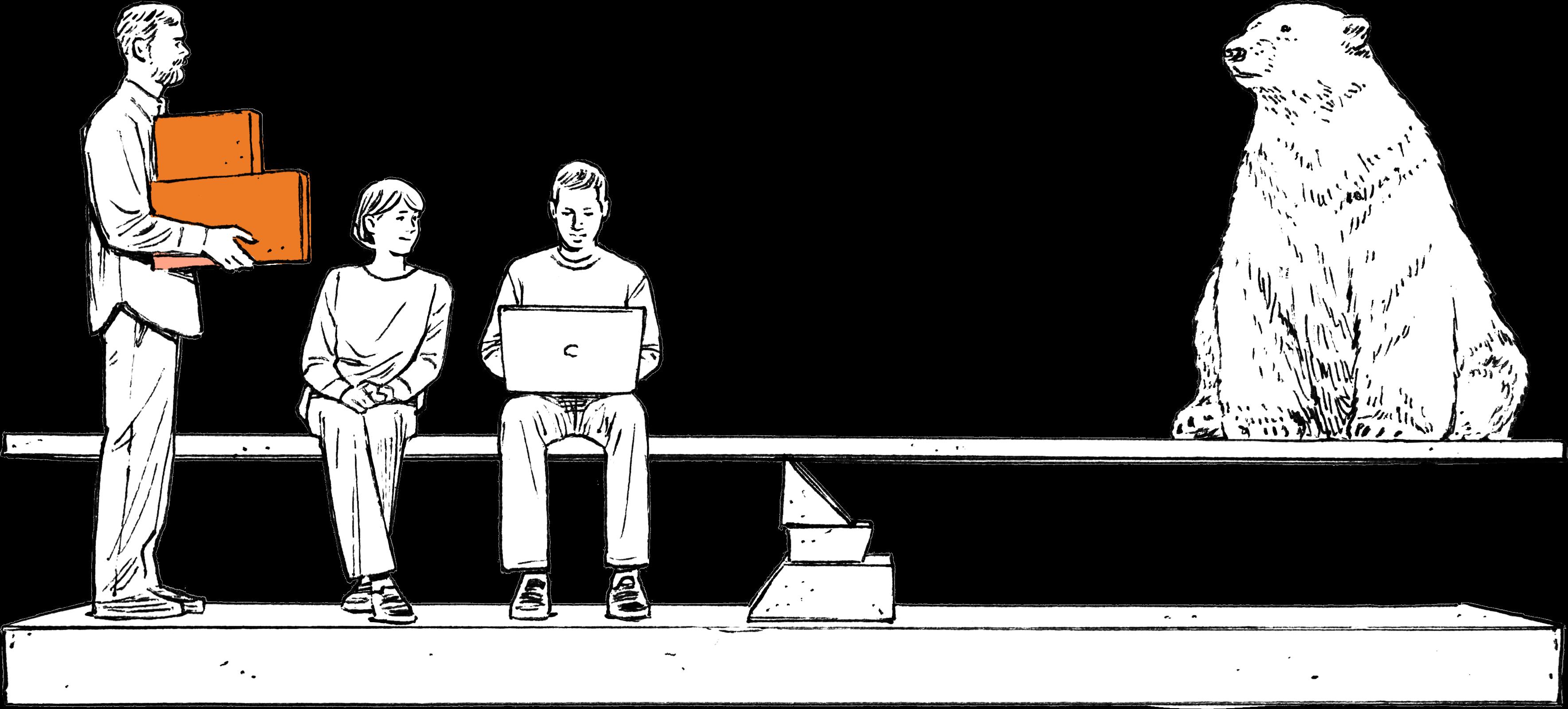 イラスト:「感性と理論のオフィスづくり」